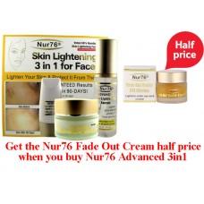 Nur76 Advanced Skin Lightening 3 in 1 Plus Fade Out Under Eye Circles